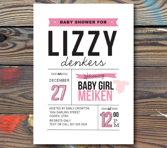 Baby Shower Invitations-Announcement