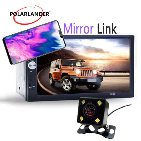 Auto Electronics In-Dash  Touch screen  12V  Bluetooth  for most car  with rear view camera  2 din stereo 2018 new Mirror Link
