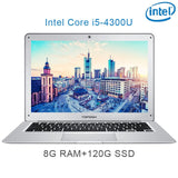 (P7) 14 inch 8G RAM 120/240/512GB SSD  Intel quad core i5 4300U Untral-thin gaming laptop notebook