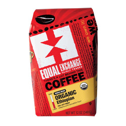 Equal Exchange Organic Ethiopian Full City Coffee 12 oz Whole Bean