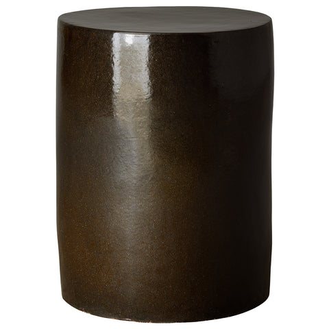 Pearlized Finish Drum Garden Stool – Mocha Brown