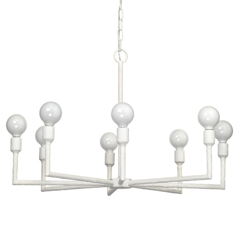 White Gesso Radial Chandelier