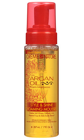 Creme of Nature Argan Oil Style and Shine Foaming Mousse (7 oz.)