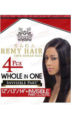Saga Gold Whole In One Remy Human Hair Weaving 4 Pieces