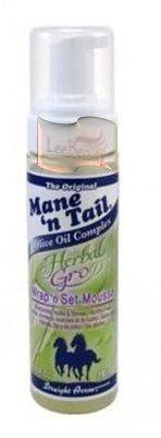 Mane N Tail Herbal Gro Spray WRAP 'N SET MOUSSE 6 FLO. OZ.