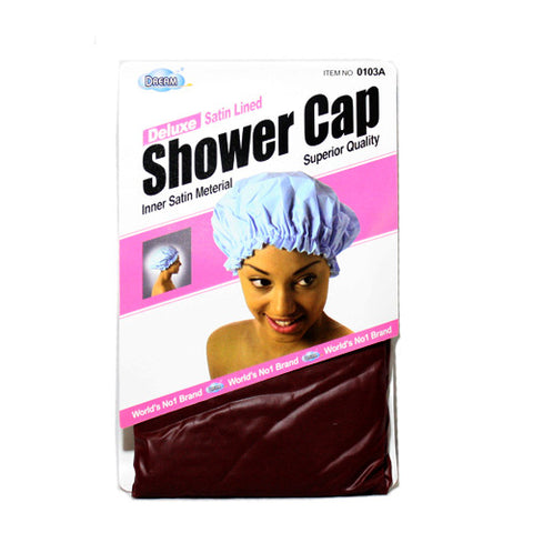 Dream Deluxe Satin Lined Shower Cap 0103