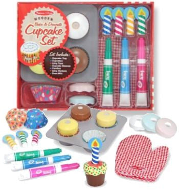 Wooden Bake and Decorate Cupcake Set