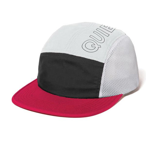 The Quiet Life Canyon 5 Panel Camper Hat / White / Black / Red