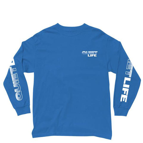 The Quiet Life Stacked Long Sleeve Tee / Royal Blue