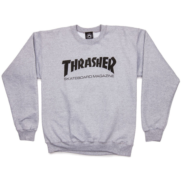 Thrasher Skate Mag Crew / Light Grey