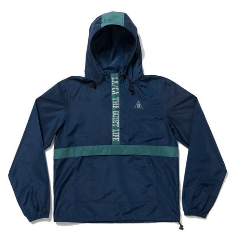The Quiet Life City Limits Pullover Jacket / Navy / Hunter