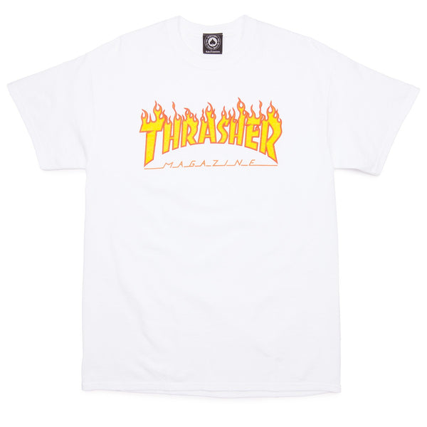 Thrasher Flame Tee / White