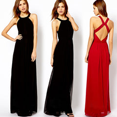 Ladies Chiffon Maxi Cocktail Dress