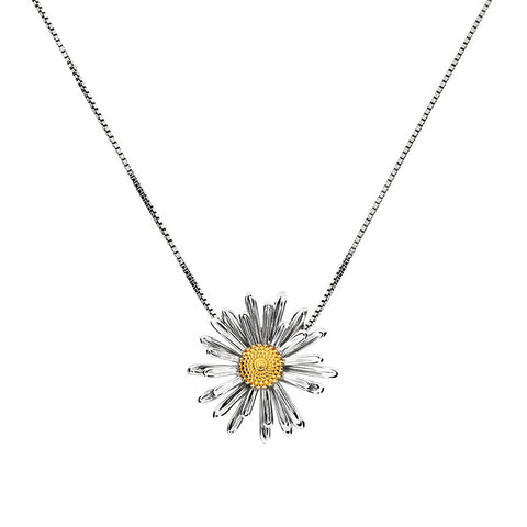September Michaelmas Daisy Pendant
