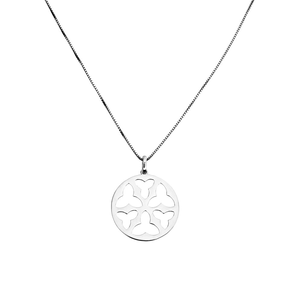 Silver Trefoil Cut-out Pendant