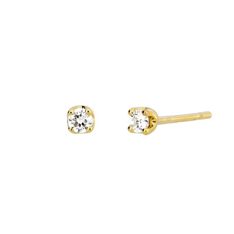 Gold & Diamond Claw Stud Earrings; 0.08ct