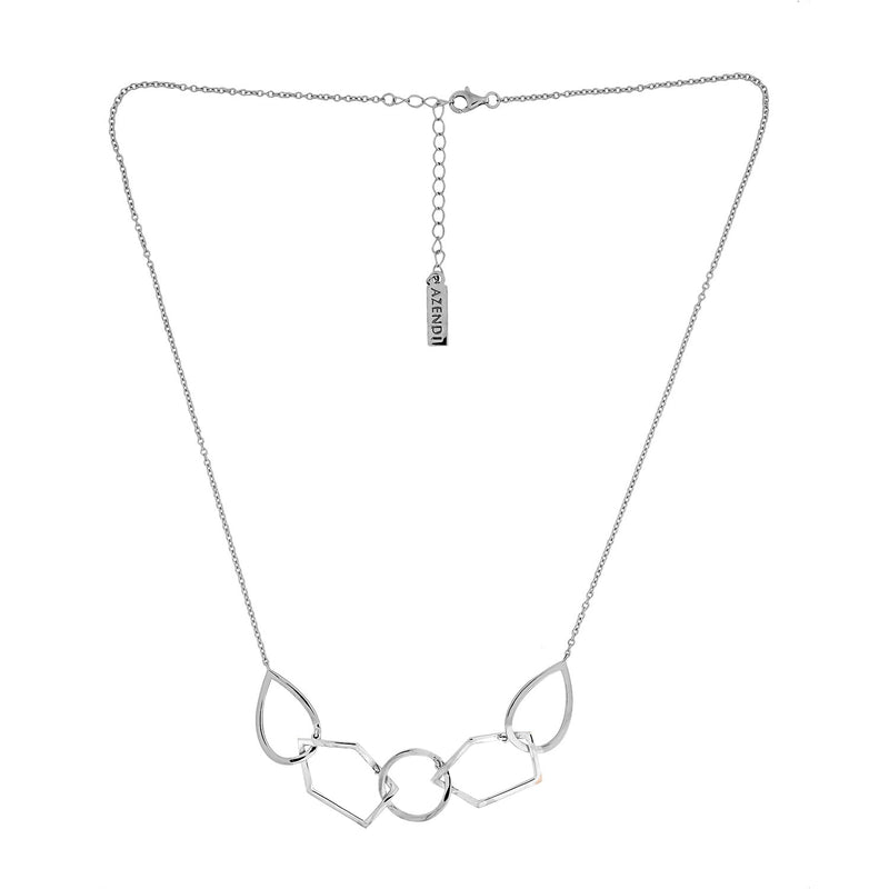 Pinnacle Linked Shapes Necklace - Silver