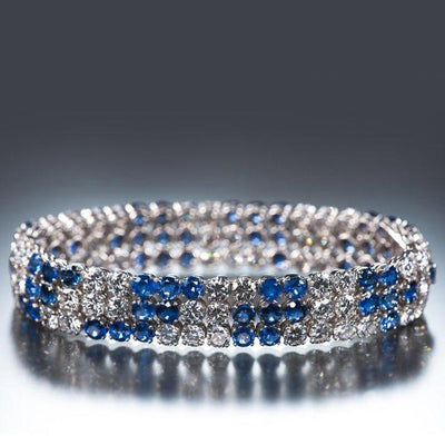 36 Carat of Blue Sapphires and Diamonds, Bracelet - Tiina Smith Jewelry