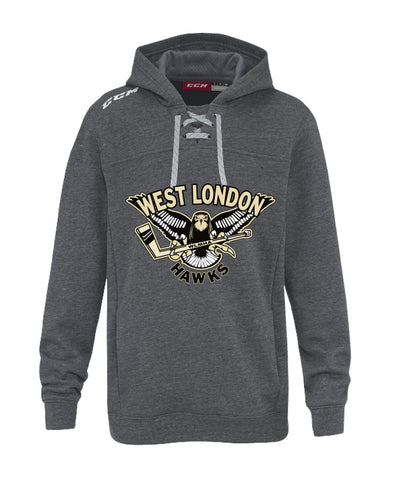 WL CCM FLEECE HOODY WITH APPLIQUE LOGO YOUTH
