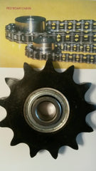 60BB15H-5/8 bore Idler Sprocket w/ insert bearing 203KRR2 for #60 Roller Chain