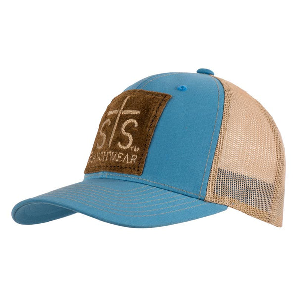 STS Patch Cap - Teal & Khaki