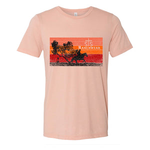 STS Cowboy Sunset Tee (Peach)