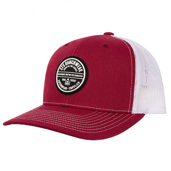 STS Patch Cap - Cardinal & White