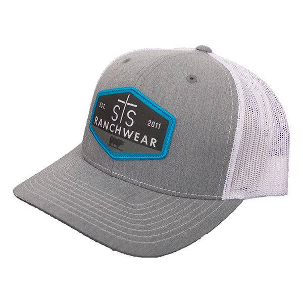 STS Patch Cap - Heather Gray & White