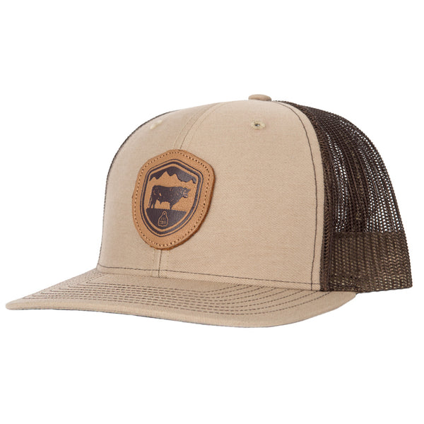 STS Crest Patch Cap - Khaki & Coffee