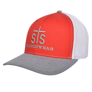 STS Puff Cap - Red & White