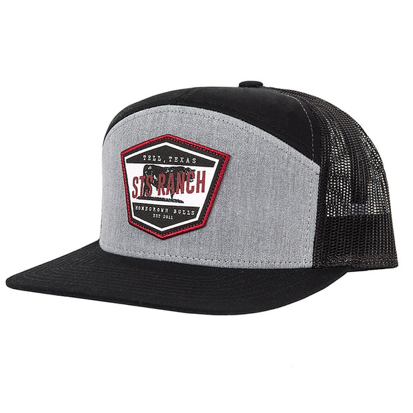 STS Patch Cap - Heather Gray & Black (Flat Brim)