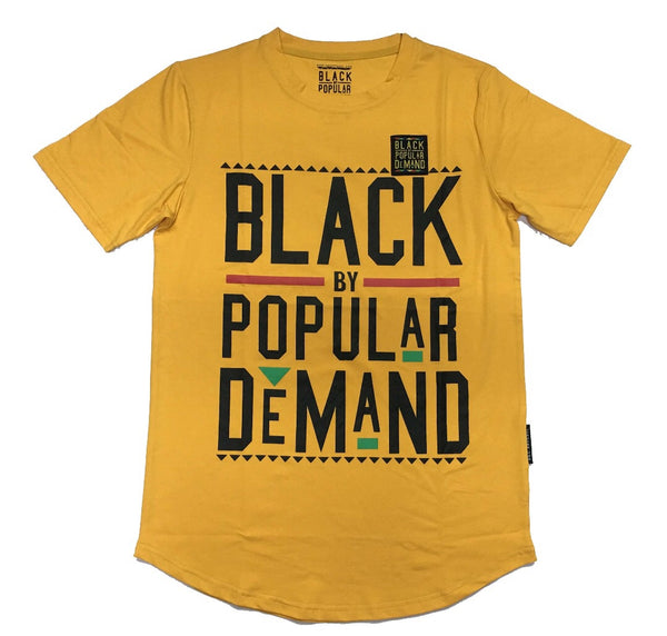 BLACK BY POPULAR DEMAND® UNISEX YELLOW SHIRT