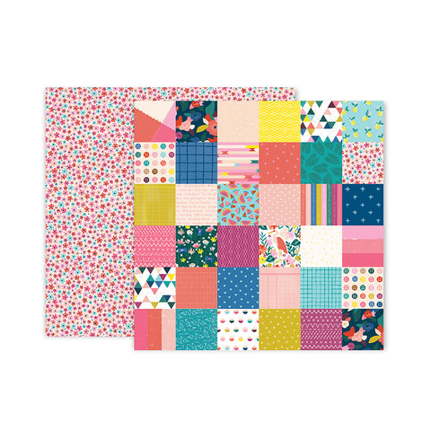 Paper 10 12x12 Pattern Paper - Pink Paislee - Paige Evans Pick Me Up