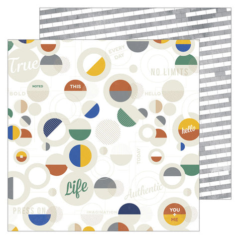 Tough 12x12 Pattern Paper - Pinkfresh Studio - Boys Fort