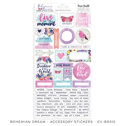 Accessory Sheet - Cocoa Vanilla - Bohemian Dream