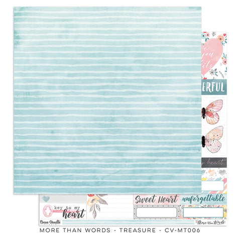 Treasure 12x12 Pattern Paper - Cocoa Vanilla - More Than Words