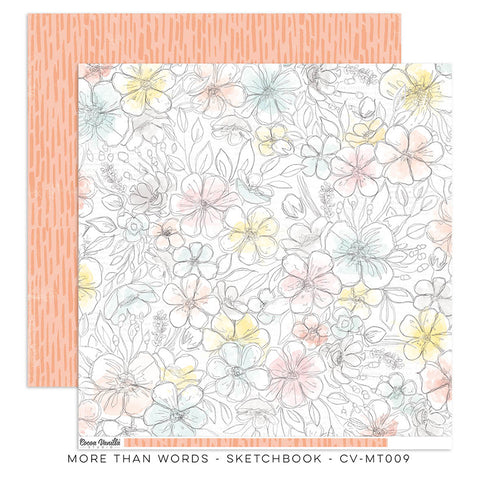 Sketchbook 12x12 Pattern Paper - Cocoa Vanilla - More Than Words