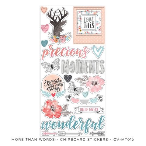Chipboard Stickers - Cocoa Vanilla - More Than Words