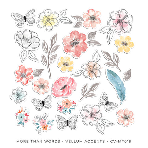 Vellum Accents - Cocoa Vanilla - More Than Words