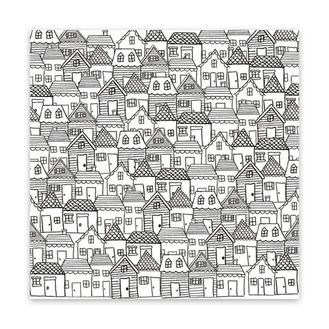 Santa's Village 8x8 Clear Speciality Paper  - Pretty Little Studio - Home for Christmas