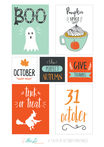 A taste of October - Printables