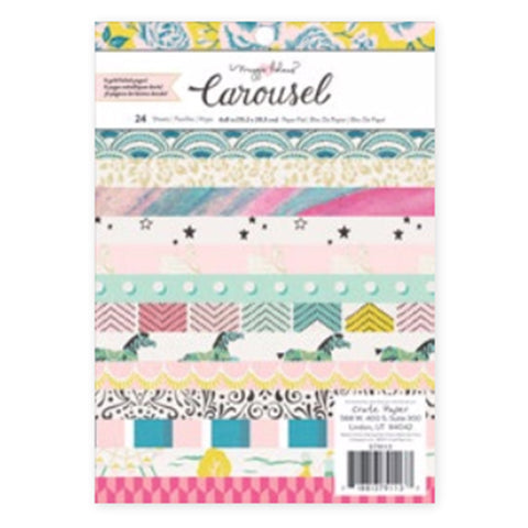 6x8 Gold Foil Paper Pad - Maggie Holmes - Carousel