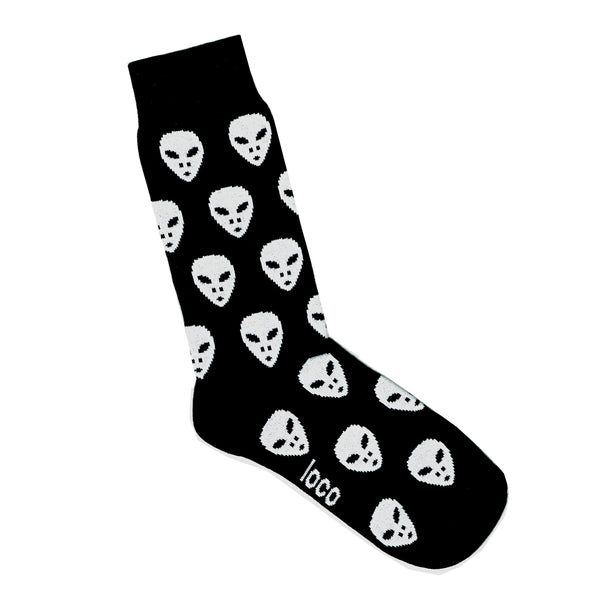 Black Socks with Aliens | Mens and Womens Patterned Socks | LAFITTE Australia