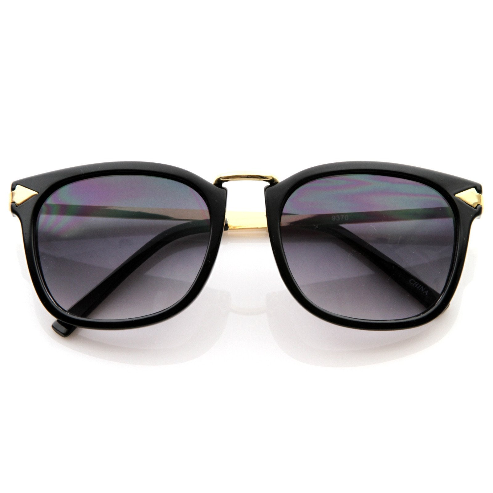 Vintage Artful European Fashion Horned Rim Sunglasses 8600