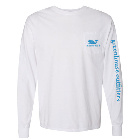 Blue Whale Unisex Long Sleeve Pocket T