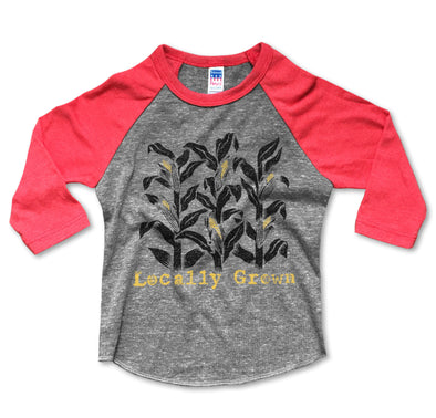 Locally Grown Baseball Tee