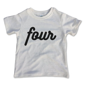 Four Birthday Tee