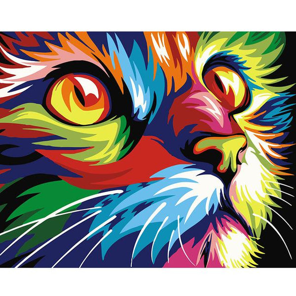 Rainbow Cat - Painting By Numbers - Jenra Store