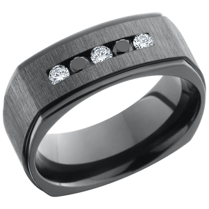 lashbrook zirconium collection zirconium 8mm flat square band