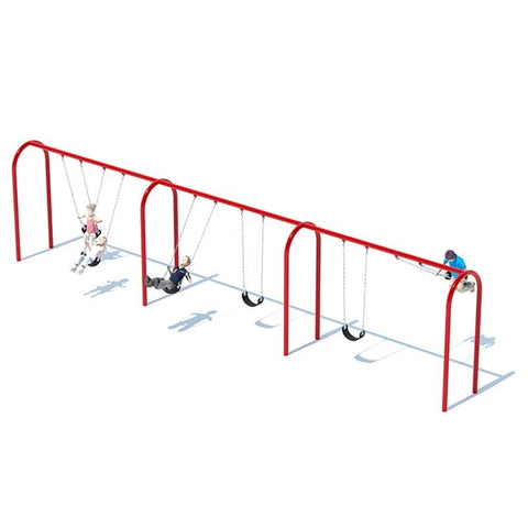 "3.5"" ARCH SWING FRAME (8') - 3 BAY"